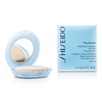Shiseido Pureness Matifying Compact Oil Free Base de Maquillaje SPF15 (Estuche + Repuesto) - # 30 Natural Ivory