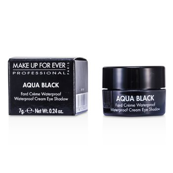 Make Up For Ever Aqua Black Waterproof Sombra de Ojos Cremosa- #1 ( Black )
