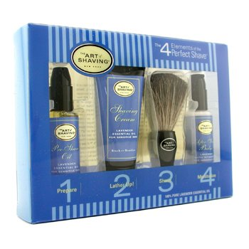 The Art Of Shaving Starter Kit - Lavender: Aceite Pre-Afeitado + Crema Afeitado + Brocha + Bálsamo After Shave