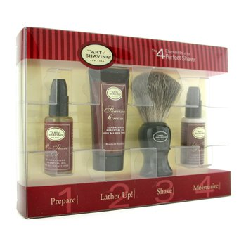 The Art Of Shaving Starter Kit - Sandalwood: Aceite Pre-Afeitado + Crema Afeitado + Brocha + Bálsamo After Shave