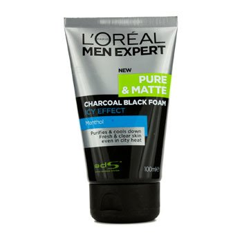 LOreal Men Expert Pure & Matte Icy Effect Charcoal Espuma Negra