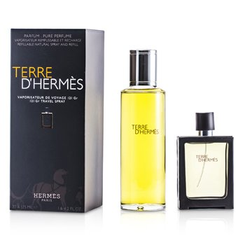 Hermes Terre DHermes Pure Parfum Spray Rellenable 30ml + Repuesto 125ml