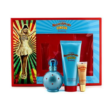 Britney Spears Circus Fantasy Coffret: Eau De Parfum Spray 50ml + Souffle Corporal 100ml + Brillo de Labios 8ml