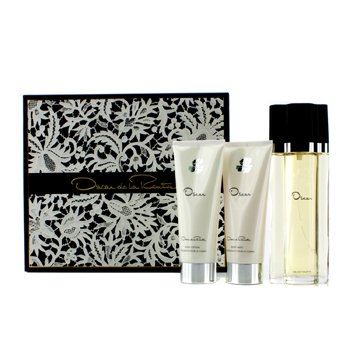 Oscar De La Renta Oscar Coffret: Eau De Toilette Spray 100ml + Loción Corporal 100ml + Gel de Baño Corporal 100ml