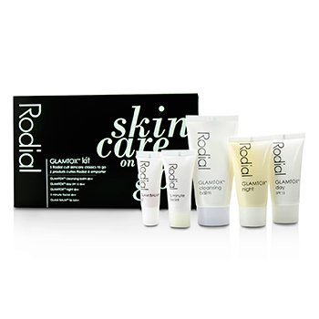Rodial Set Glamtox: Bálsamo Limpiador 30ml + Glamtox Día SPF15 15ml + Glamtox Noche 15ml + Facial 5 Minutos 10ml + Glam Bálsamo Labios 2.5ml