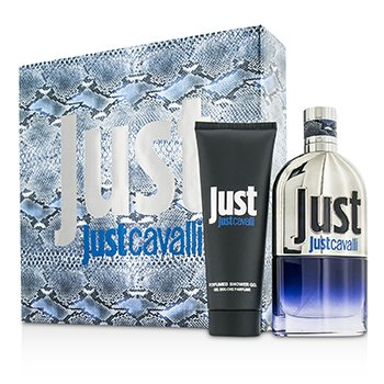 Roberto Cavalli Just Cavalli Him (New Packaging) Coffret: Eau De Toilette Spray 90ml + Gel Ducha 75ml