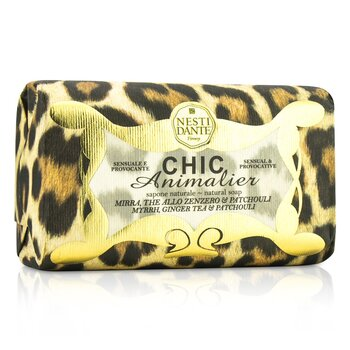 Nesti Dante Chic Animalier Jabón Natural  - Myrrh, Ginger Tea & Patchouli