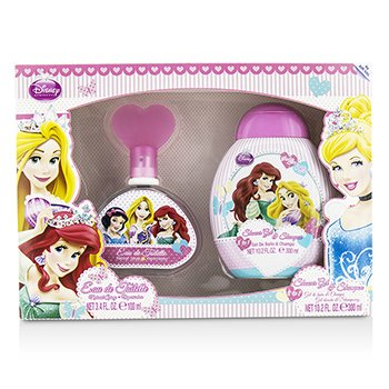 Air Val International Disney Princess Coffret: Eau De Toilette Spray 100ml + Gel de Ducha & Champú 300ml