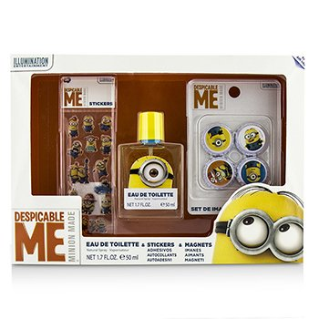 Air Val International Minions Coffret: Eau De Toilette Spray 50ml + Magnetos + Adhesivos