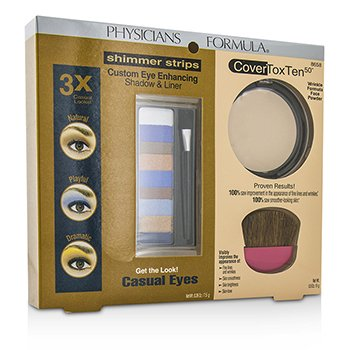 physicians Formula Set Maquillaje 8658: 1x Shimmer Strips Eye Enhancing Color Ojos, 1x CoverToxTen50 Polvo rostro, 1x Aplicador