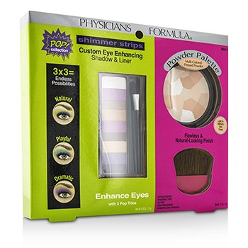 physicians Formula Makeup Set 8661: 1x Shimmer Strips Eye Enhancing Shadow, 1x Powder Palette, 1x Applicator