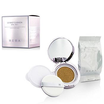 Hera UV Mist Cushion Mineral Clay Water & Smart Layer UV Complex SPF50 Con Repuesto Extra - #C23