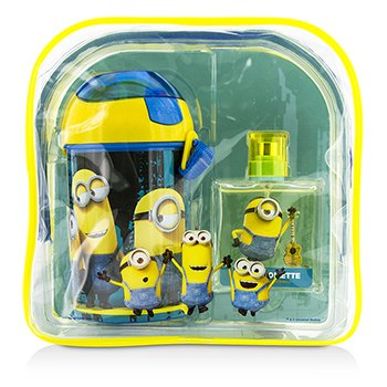 Air Val International Minions Coffret: Eau De Toilette Spray 50ml + Botella de Agua + Mochila
