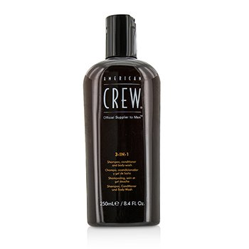 American Crew Men Classic 3-IN-1 Shampoo, Conditioner & Body Wash