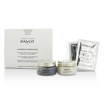Payot Supreme Experience Set: Gommage Perles 30g + Baume Fondant 30g + Masque Crystal 10aplicaciones