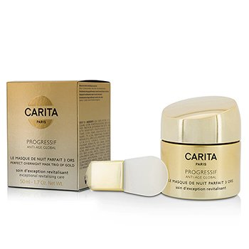 Carita Progressif Anti-Age Global Perfect Mascarilla Para la Noche Trío De Oro