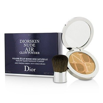 Christian Dior Diorskin Nude Air Polvo Resplando Brillo Saludable (Con Brocha Kabuki) - # 001 Fresh Tan
