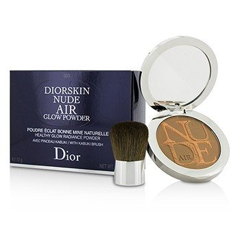 Christian Dior Diorskin Nude Air Polvo Resplando Brillo Saludable (Con Brocha Kabuki) - # 003 Warm Tan