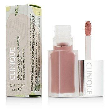 Clinique Pop Liquid Color de Labios Mate + Primer - # 01 Cake Pop