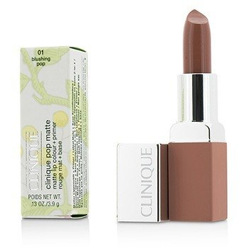 Clinique Pop Matte Color de Labios + Primer - # 01 Ruboring Pop