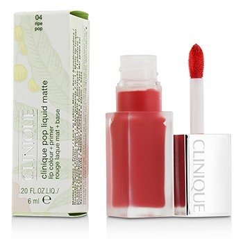 Clinique Pop Liquid Color de Labios Mate + Primer - # 04 Ripe Pop