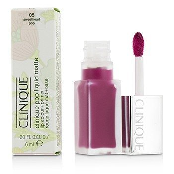 Clinique Pop Liquid Color de Labios Mate + Primer - # 05 Sweetheart Pop