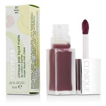 Clinique Pop Liquid Color de Labios Mate + Primer - # 07 Boom Pop