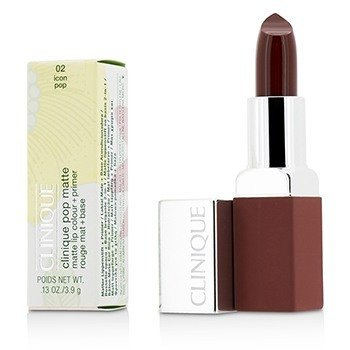 Clinique Pop Matte Color de Labios + Primer - # 02 Icon Pop
