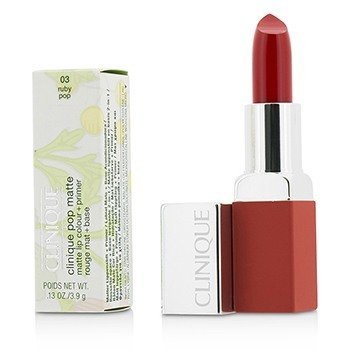 Clinique Pop Matte Color de Labios + Primer - # 03 Ruby Pop