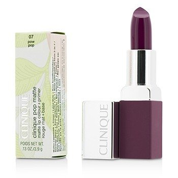 Clinique Pop Matte Color de Labios + Primer - # 07 Pow Pop