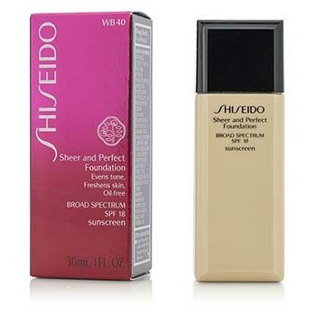 Shiseido Base Pura & Perfecta SPF 18 - # WB40 Natural Fair Warm Beige