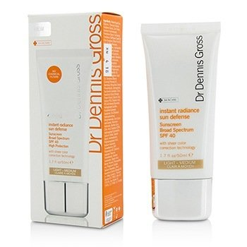 Dr Dennis Gross Instant Radiance Protector Solar Defensa de Sol SPF 40 - Light-Medium