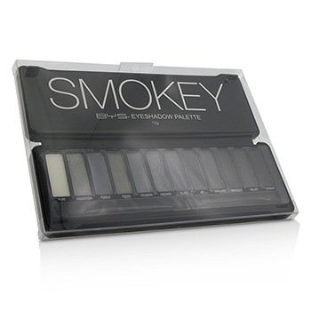 BYS Eyeshadow Palette (12x Eyeshadow, 2x Applicator) - Smokey