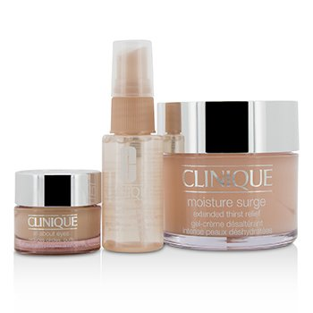 Clinique Set Moisture Surge: Moisture Surge 125ml + Moisture Surge Spray Facial Aliviante de Sed de Piel 30ml + Todo Acerca de Ojos 15ml