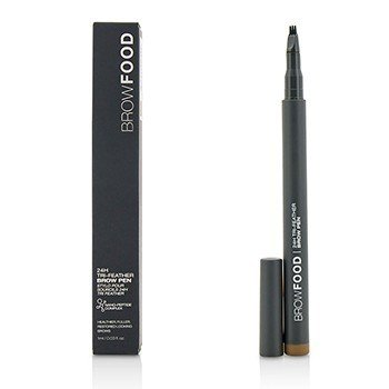 LashFood BrowFood 24H Tri Feather Lápiz de Cejas - Brunette