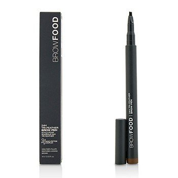 LashFood BrowFood 24H Tri Feather Lápiz de Cejas - Dark Brunette
