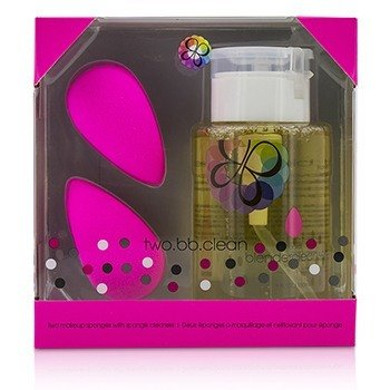 BeautyBlender Kit Two BB Clean (2x BeautyBlender, 1x BlenderLimpiador Líquido 150ml) - Original (Pink)