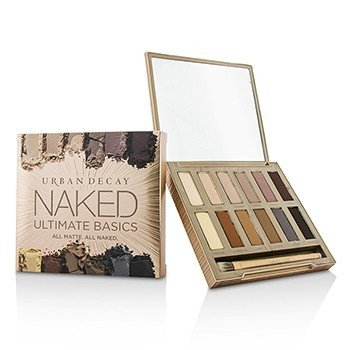 Urban Decay Naked Ultimate Basics Eyeshadow Palette: 12x Eyeshadow, 1x Doubled Ended Blending and Smudger Brush