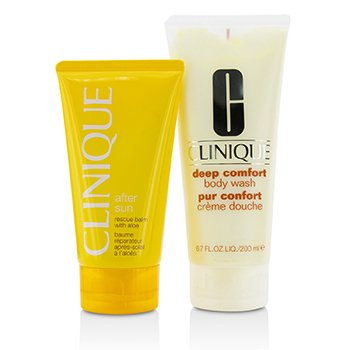 Clinique Set Summer In Clinique: Deep Comfort Jabón Corporal 200ml + Bálsamo Rescate Para Después del Sol 150ml