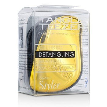Tangle Teezer Compact Styler On-The-Go Cepillo de Cabello Desenredante - # Bronze Chrome