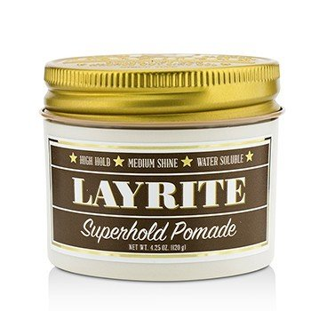 Layrite Pomada Súper Agarre (High Hold, Brillo Medio, Soluble en Agua)
