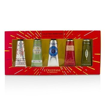 LOccitane Set Crema de Manos Collection: Cherry Blossom + Almond + Shea Butter + Rose + Verveine (Verbena)
