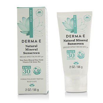 Derma E Natural Mineral Oil-Free Sunscreen Broad Spectrum SPF 30 - Face