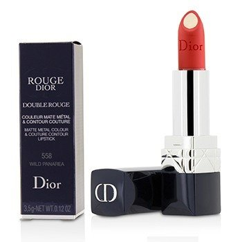 Christian Dior Rouge Dior Double Rouge Pintalabios Color Metal Mate & Contorno - # 558 Wild Panarea