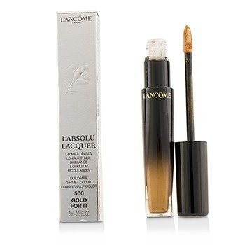 L'Absolu Lacquer Buildable Shine & Color Longwear Lip Color - # 500 Gold For It