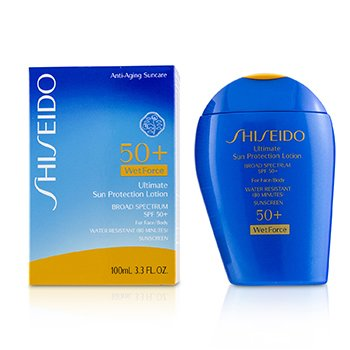 Shiseido Ultimate Sun Protection Lotion WetForce For Face & Body SPF 50+