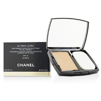 Chanel Le Teint Ultra Ultrawear Flawless Compact Foundation Luminous Matte Finish SPF15 - # 60 Beige