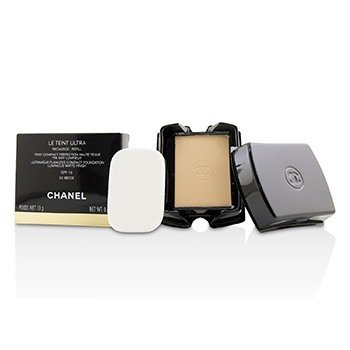 Chanel Le Teint Ultra Ultrawear Flawless Compact Foundation Luminous Matte Finish SPF15 Refill - # 30 Beige