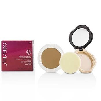 Shiseido Sheer & Perfect Base Compacta SPF 21 (Estuche + Repuesto) - # B60 Natural Deep Beige