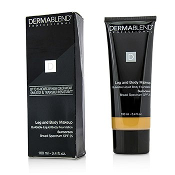 Dermablend Leg and Body Make Up Buildable Liquid Body Foundation Sunscreen Broad Spectrum SPF 25 - Medium Golden 40W (Exp. Date 10/2018)